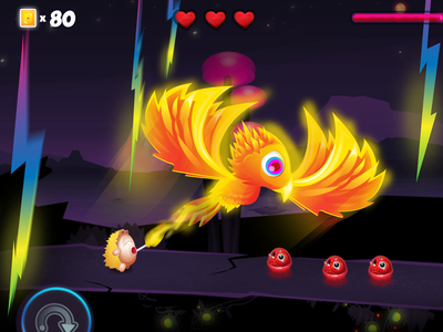 Zammis Fire fire breathing fire phoenix mobile illustration