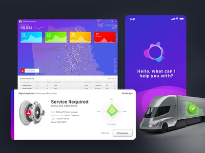 Dribble Connectscreen assistant application trucking connect iot