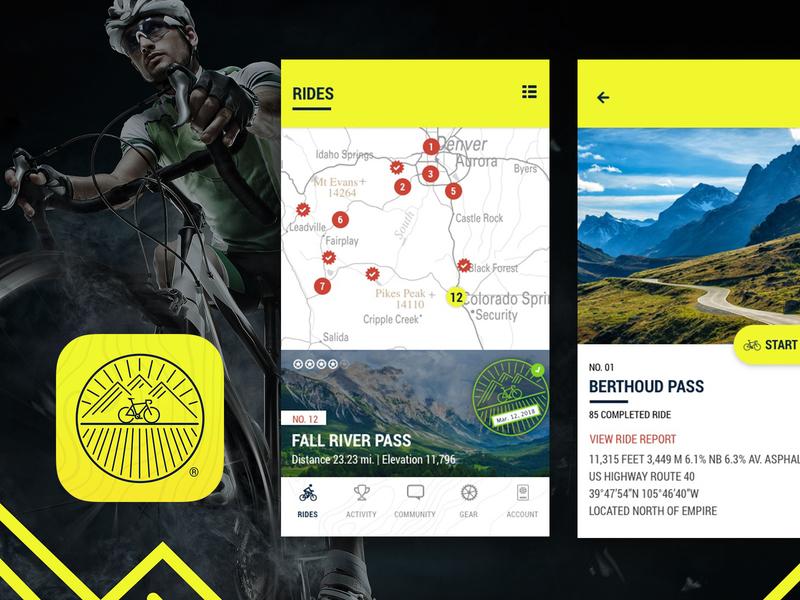 Bicyclepassport design ux ui application cycling