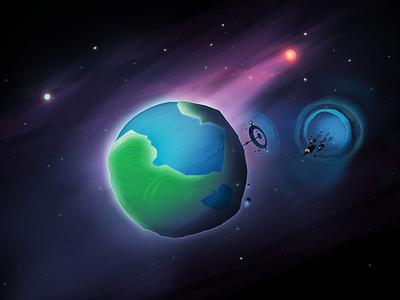 Planet Zam planet space spaceships aliens