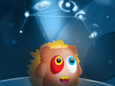 Space Map illustration space rocket planets game