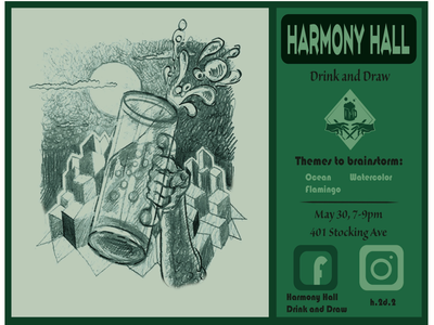 Harmony Hall Drink and Draw
