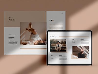 LIGHT Creative Portfolio Brochures simple print design simply template elegant minimal minimalist magazine lookbook portfolio brochure print template templates print