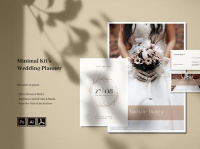 Minimal Wedding Photography Kits print template professional modern minimalist template minimal simple luxury elegant invitation business card flyer kit photography wedding