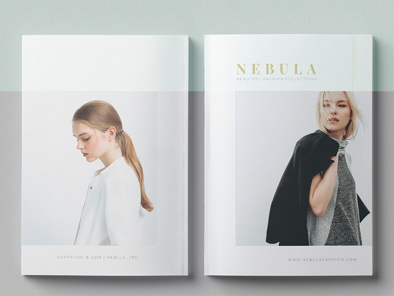 NEBULA  |  Lookbook/Magazine Fashion brochure agency model fashion magazine template print lookbook