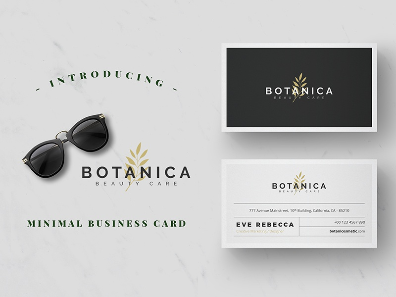 Minimalist Business Card Vol 10 By One Design Dribbble Dribbble