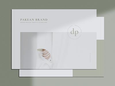 PAKEAN Minimal Brand Guidelines modern business card guidelines brand guide branding brand luxury design brochure card logo print template professional minimal elegant print template clean simple minimalist