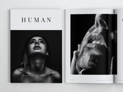 HUMAN Minimalist Lookbook Magazines print template elegant template clean simple minimalism brochures lookbook catalogue magazines templates print brochure portfolio minimal