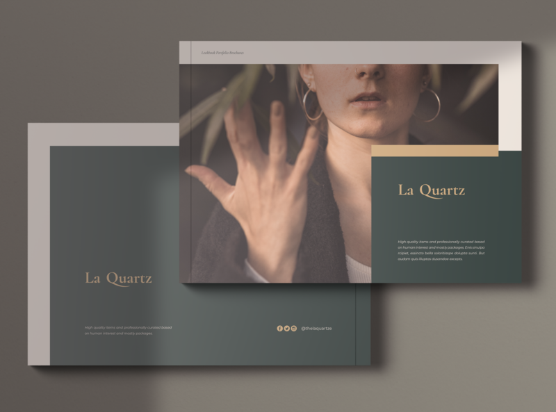 LaQuartz Lookbook Portfolio Brochures simple promotions marketing catalogue portfolio lookbook brochure professional print template minimal elegant print template minimalist