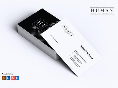 HUMAN MInimalist Business Card business card professional print template modern elegant print template clean simple minimalist
