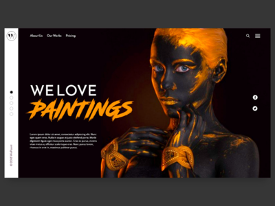 Painter landing page user interface product design ui
