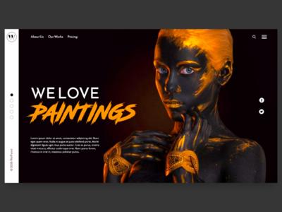 Painter landing page