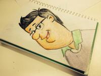 Pastel try on Geri Coady's Portrait illustration! rebound retro draft pencil drawings pastel sketch illustration