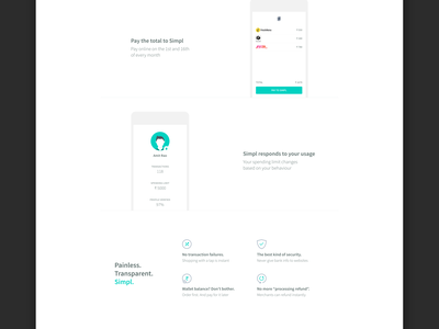 Simpl Homepage Redesign! ui interactive html gif landingpage redesign homepage simpl
