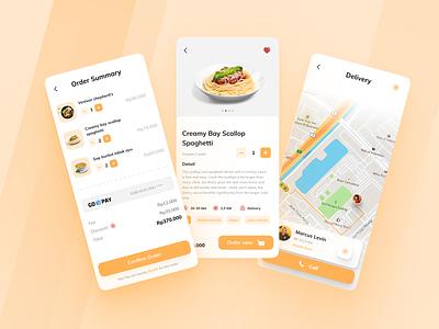 Vegan Food Delivery Mobile Apps 🍲 #2 services clean ui food driver app exploration diet ui delivery app clean food app uiux app