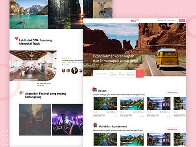 Travel Landing Page landing page airbnbclone travel app web design branding