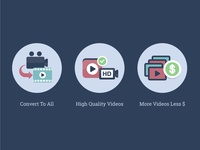 Icons for a video platform