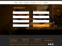 Bistro Booking Page