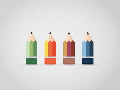Season Pencils sweet smooth texture seasons logo pencil winter icons weather palettes color summer illustration drawing colors cute ui symbol spring fall clean idea