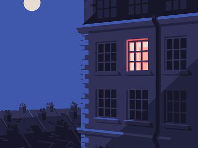 In search of sleep (crop) twilight architecture moonlight moon street art street united kingdom london editorial artist art illustrator illustration
