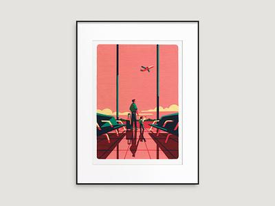 ⚡ NEW PRINTS ⚡ travel plane store gift shop prints art artist illustrator illustration