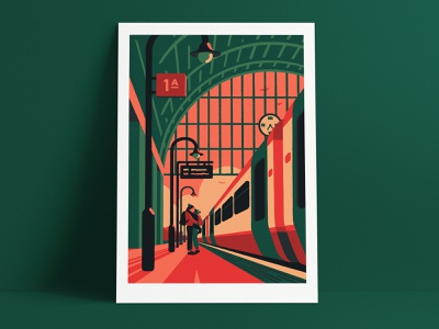 About Today shop local christmas prints print gifts gift couple trains train london artist art illustrator illustration