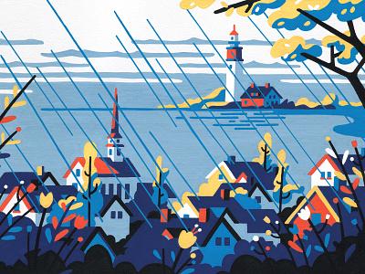 Spring (crop) new england painting editorial posca artist art illustrator illustration