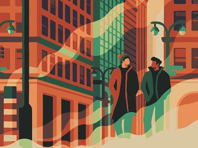 New York City (crop) cityscape city manhattan new york city new york artist art illustrator illustration