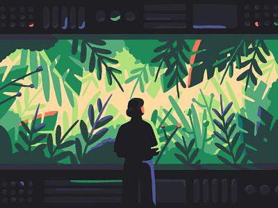 Toward sustainable software engineering increment stripe lady internet software technology tech green plant editorial artist art illustrator illustration