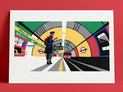 Mind the Gap I underground subway tfl london underground london paint acrylic posca painting artist art illustrator illustration