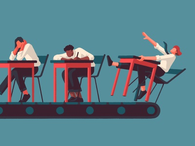 Failing the Test priya mistry pupils exams student prospect editorial artist art illustrator illustration