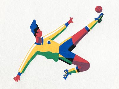 Futbol world cup artist art sports hand drawn posca illustrator illustration striker football