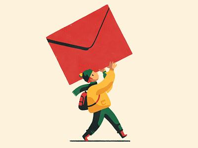 Postal Dates print ad artist art online shop shop post boy christmas fine art giclee print illustrator illustration