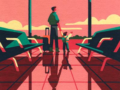 Departures (crop) aeroplane airplane airport travel molotow painting hand drawn posca artist art illustrator illustration