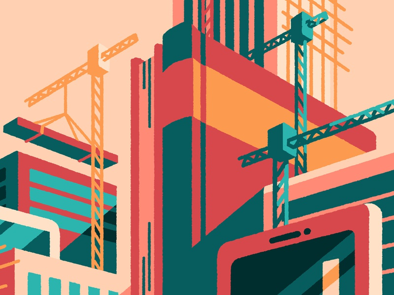 Economia - Going for Growth editorial illustration editorial art buildings growth editorial artist art illustrator illustration
