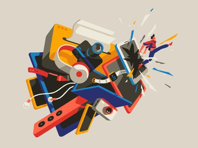 Breaking the upgrade cycle gadgets ipad iphone editorial art editorial illustration smartphone technology tech editorial artist art illustrator illustration