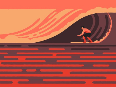 Surf (crop) waves travel artist art sea sport surfer surfing surf california illustrator illustration