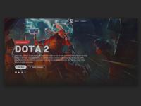 Dota 2 website design concept