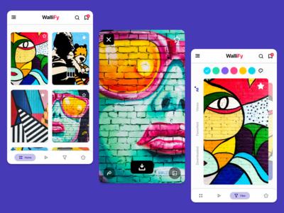 WalliFy - Wallpaper App Illustration