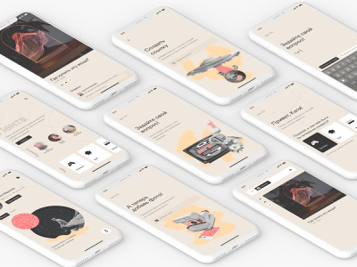 Whitespace App card search bar category ask web collage ux ui app question