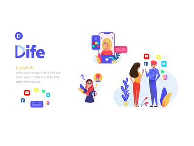 Dife : Face Recognition App Illustration