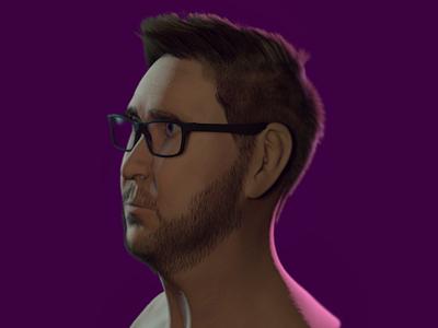 Self portrait animation motion render showreel motion graphics cinema4d c4d maxon modeling 3d self portrait