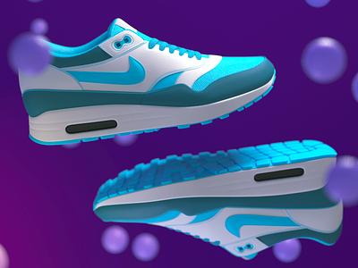 Nike AirMax render test dailyrender mograph cinema4d render cycles4d