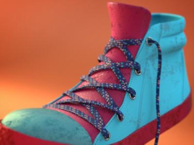 Cartoon model shoe cycles maxon cinema 4d c4d render mograph animation 3d model