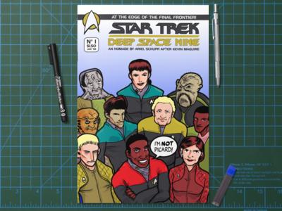 Star Trek Deep Space Nine Homage sketch cover editorial design comics sci fi deep space nine star trek comic book cover comic book comic books design illustration graphic design
