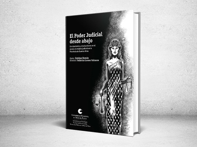 Book Cover - Sociological thesis lady justice graphic design dust jacket book cover justice laws illustration design editorial