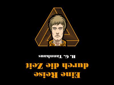 Jonas from Dark netflix digital art vector illustration