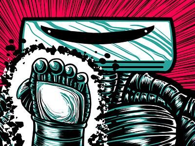 Pre-Apocalyptic Signage - AC (detail) signage digital art design digital graphic design illustration