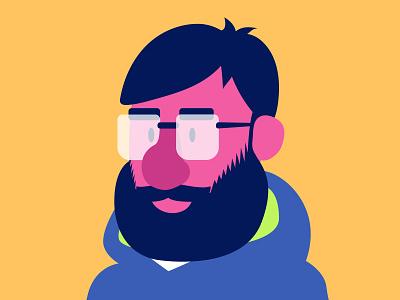 Illustrator Self-Portrait popular bubblegum pop adobe illustrator digital artist cutout shapes minimalistic graphic design vector artwork illustrator vector art digitalart