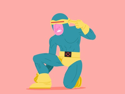 80s Cyclops from X-Men Fanart comic art comics character disney marvel cyclops x-men adobe illustrator stickers digital art vector art illustration fanart